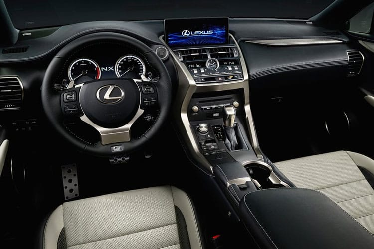 Lexus NX 300h SUV 4wd 2.5 h 197PS F-Sport 5Dr E-CVT [Start Stop] inside view
